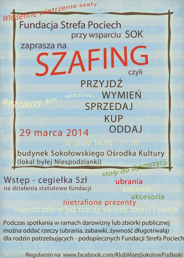 szafing plakat
